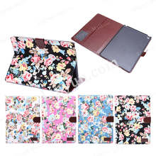 Hot selling flower pattern leather case for iPad air 2 , for ipad air2 cover case , PU leather tablet cover