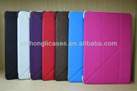 new arrival Slim SmartBookstand leather Creative Transformers case for ipad mini