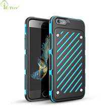 Colorful Custom Non-Slip Touch Shockproof Armor Hybrid Cell Phone Case For Apple iPhone 6 6 Plus