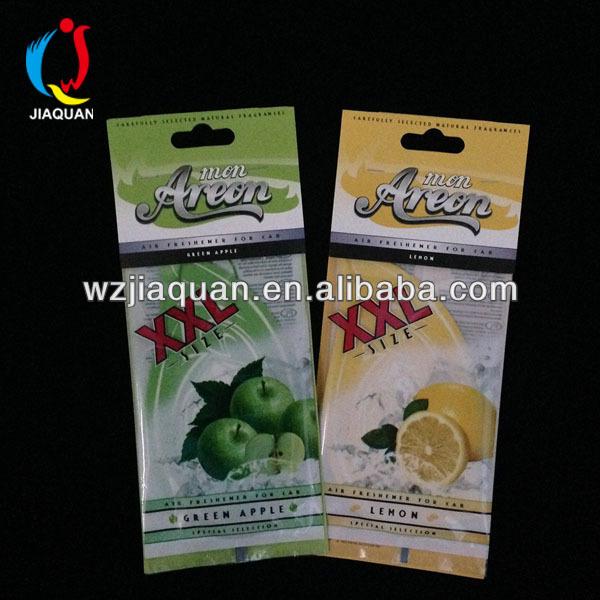 rose air freshener card/car air freshener paper fragrance card