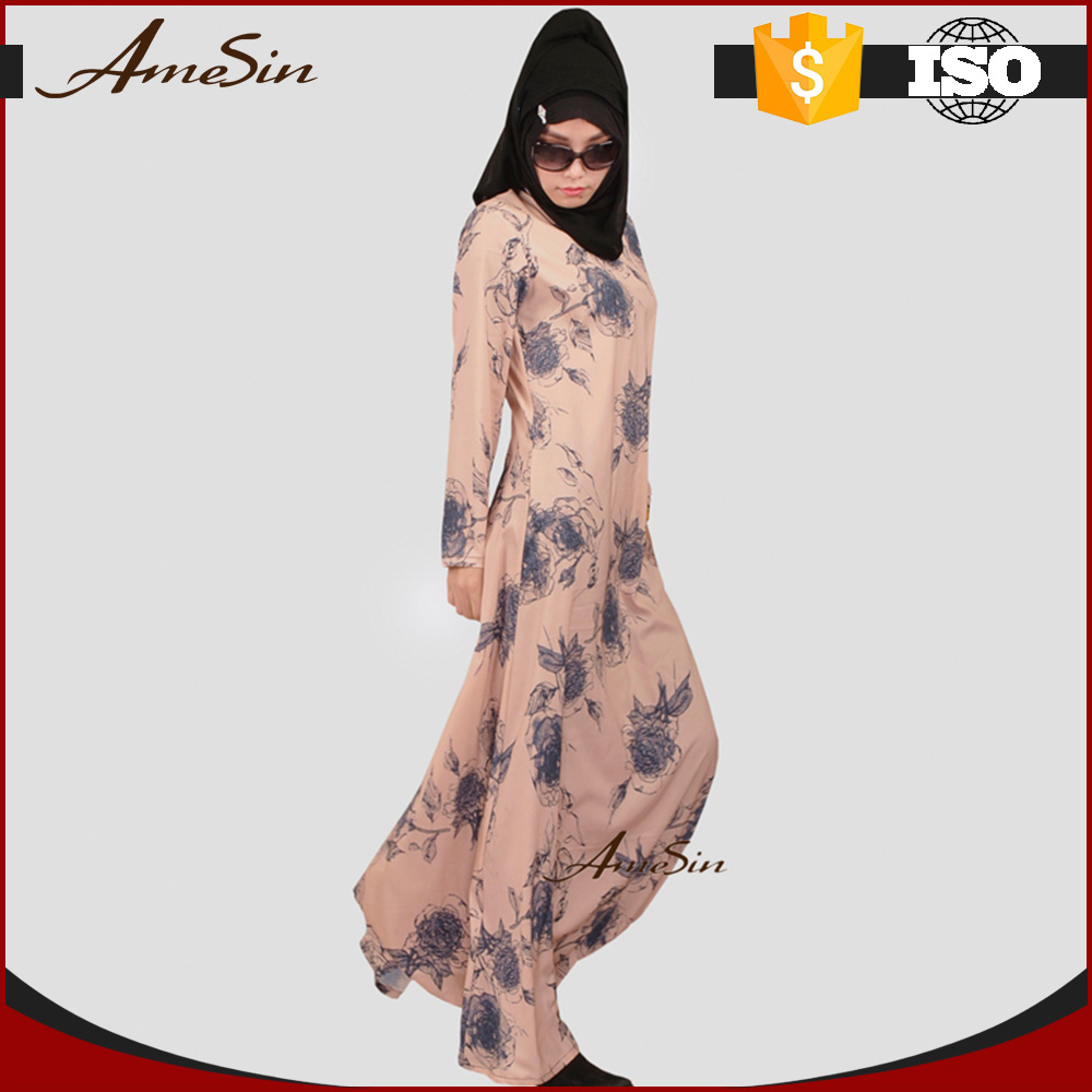 AMESIN Premium Fashion Arabic Maxi Long Sleeve Dress Arabic Evening Dress