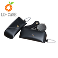 Sunglass leather pouch with key chain sunglass case manufacturer