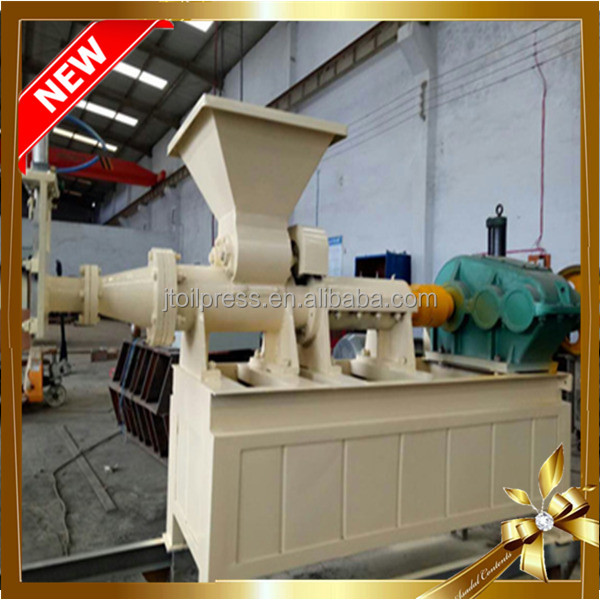 Hollow type coal dust briquette making machine with BBQ
