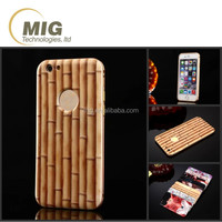 Bamboo & wooden pattern 3D sublimation mobile phone case for iphone 6 6s plus 4.7 & 5.5 inch