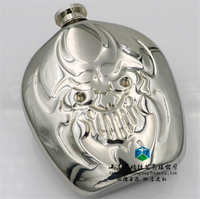 6 Ounces Ghost Patented Laser Welding Mirror Hip Flask Of Wine Cheap Wine Bottles