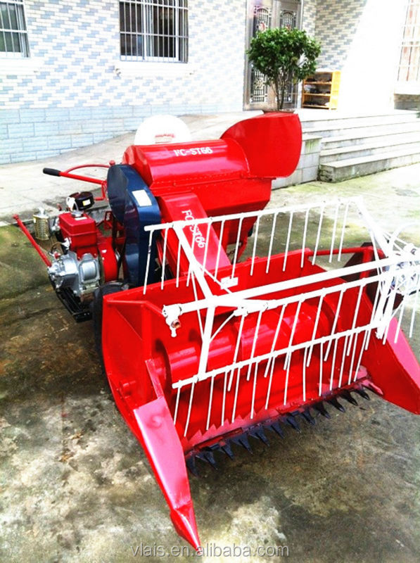 2015High efficiency best price New design paddy 4LZ 0.8 rice harvest machine/rice mini harvester