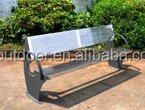 Outdoor furniture stainless steel sreet bench