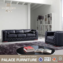 factory directly selling stainless steel leather sofa round sofa set sofa rotan
