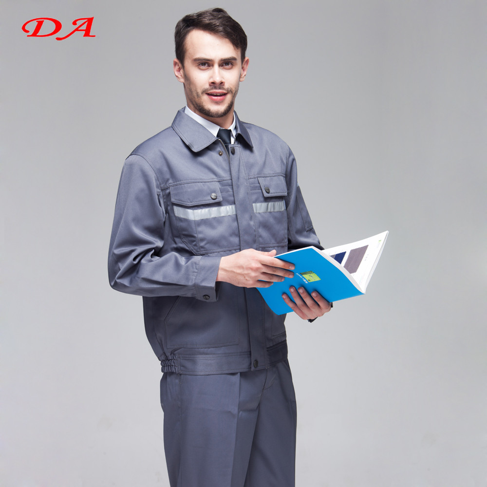Grey Reflective Tapes Custom Wholesale Staff Uniform
