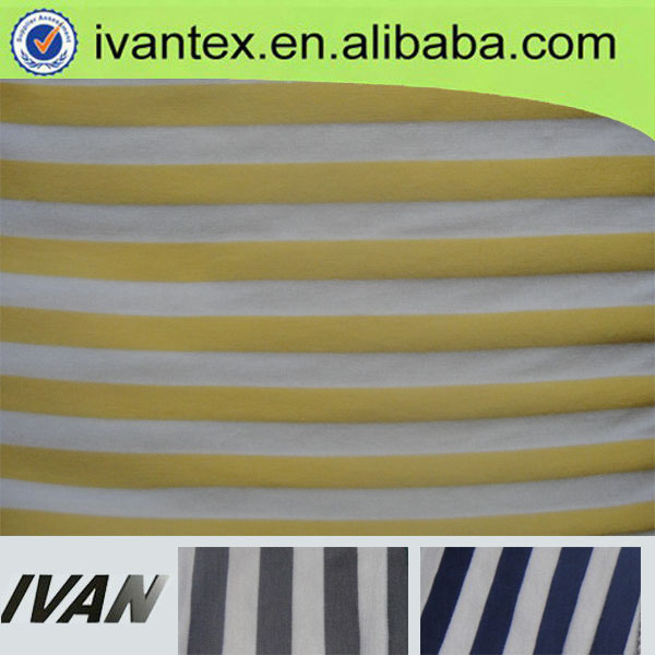 rayon polyester lycra stripe knit fabric