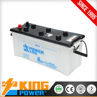 12V rechargeable dry charged auto battery for bus and truck N120