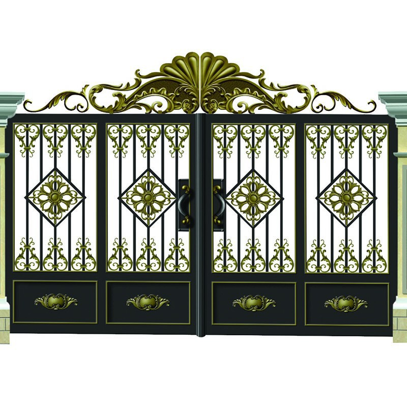 Beautiful Entrance Metal Luxury Courtyard Security Courtyard Gate Designs