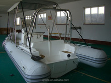 5 years warranty 1.0mm Hypalon tub fiberglass hull boat for sale