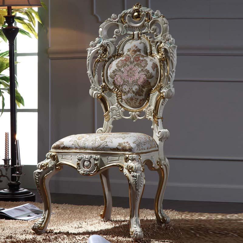 Luxus klassischen barocken stuhl italienische massivholzrahmen mit blattgold esszimmerm bel - Esszimmer franzosisch ...