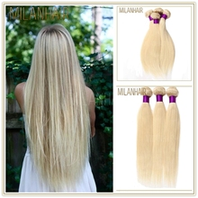 7A Grade Russian Hair Hair Weaving Remy Russian Blonde Hair Extensions