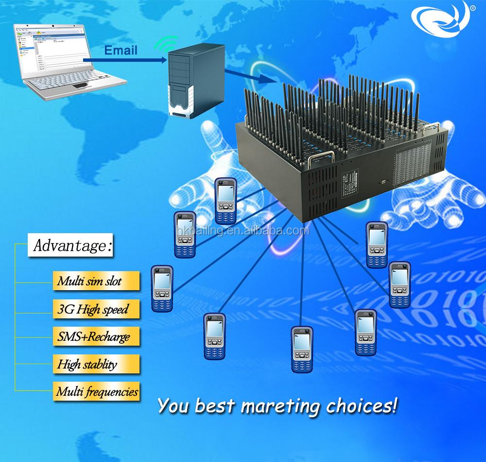 GSM gateway bulk sms machine SIMCOM SIM5320 A/E/J module 3G 64 port gsm modem pool