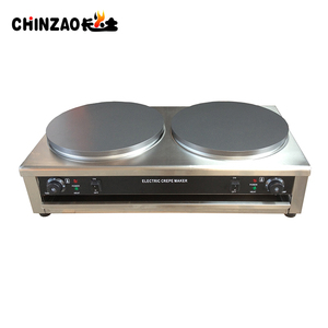 Double Hotplate Commercial Electric Krampouz Crepe Maker CE Approval