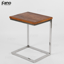 contemporary metal end table stainless steel small coffee side table for sofa