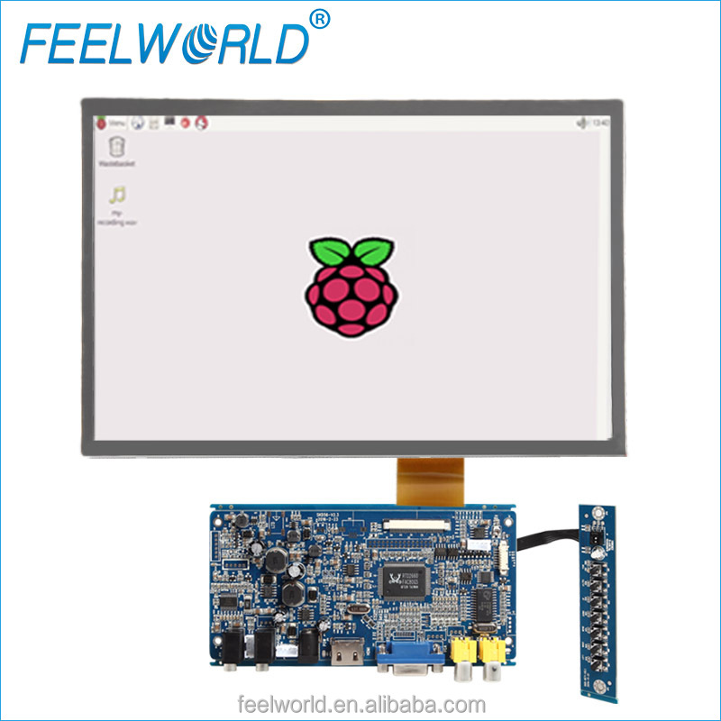 12.1 inch <strong>16</strong>:9 1280x800 raspberry pi compute module with HDMI VGA Open frame