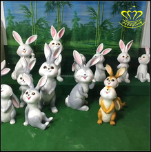 Fiberglass resin composition Christmas white rabbit mushroom sculpture