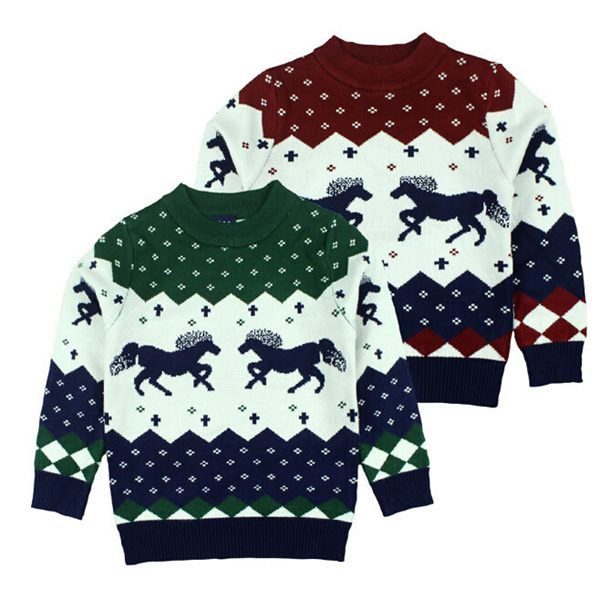 2016 baby boy 100% cotton New ugly christmas sweater designs for kids sweater