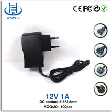 OEM Wholesale high quality 12V 1A 12W wall charger for CCTV camera and LED