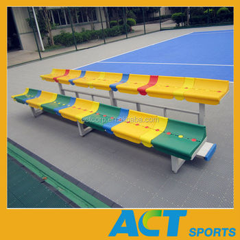 Outdoor plastic bench seats sports bleacher commercial for Outdoor plastic bench seats
