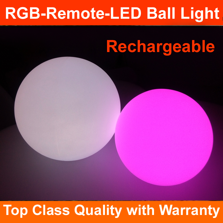 2017 new arrivals rechargeable wireless led round ball light battery operated lights outdoor led ball