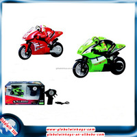 Wholesale toy from china plastic toy mini motrocycle 2.4GHz 4 channel rc motorbike with lights allegro radio control motorcycle