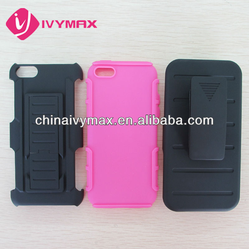 plastic and silicone holster case for iphone 5c mobile phone accessories