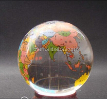 Crystal Globe World Map Crystal Ball with color 100mm