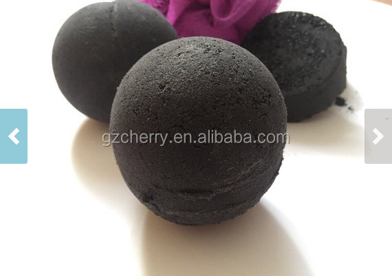 private label bubble black bath bomb