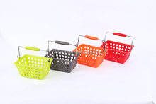 Large size pass salt spray test collapsible plastic basket with handle for supermarket