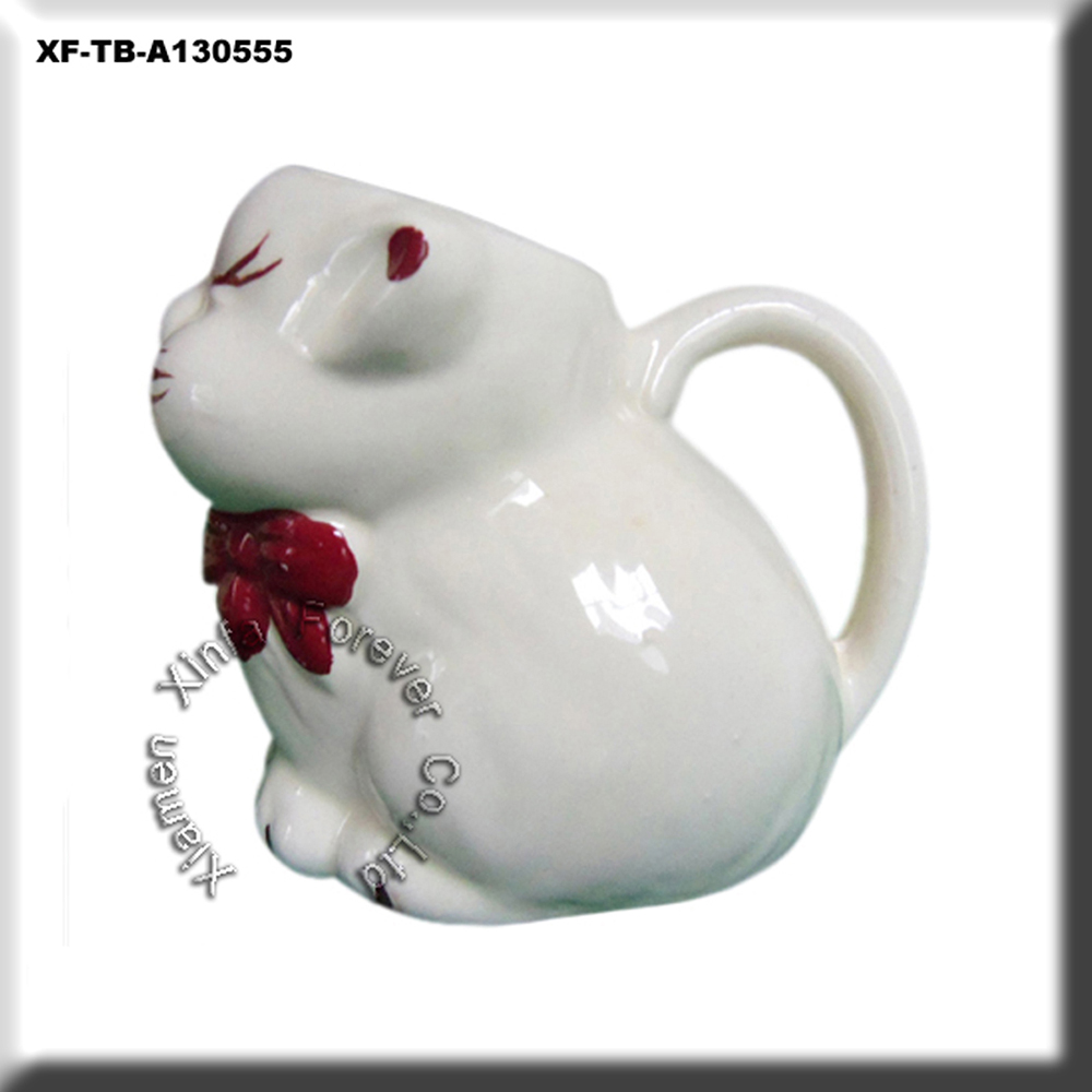 unique ready to paint bisque cat creamer