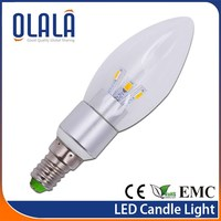 C38 hig quaity non-dimmable candle light led bulb lamp