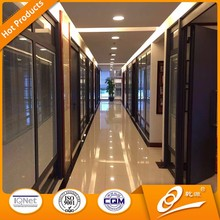 Hot sale folding partition wall material office partition glass wall design
