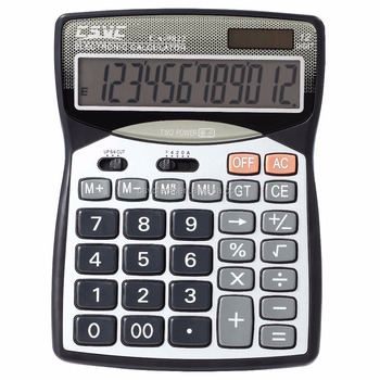 12 digits battery&solar two way power office/desktop calculator CA-9822