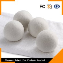 hot sale & high quality 100% Merino Wool Felt Laundry Cotton Dryer Balls for wholesales