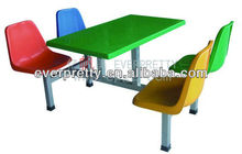 dining table with bright color, dining table and chair,tempered glass dining table,