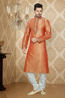 New Pakistani Style Long Party Wear Kurta Neck Designs for Men