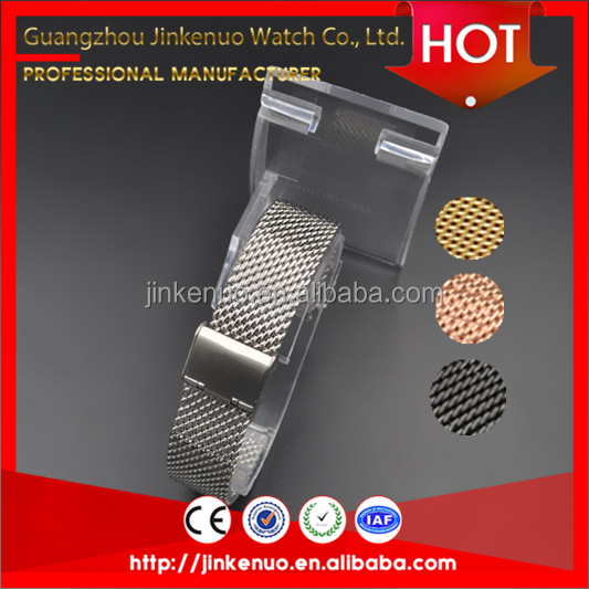 Wholesale Fashion and classic 1.0 coarse mesh silver/golden/black/rose golden stainless steel watch band for smart watch