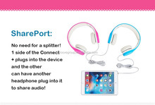 Hisonic colorful 85 db children headphones with shareport