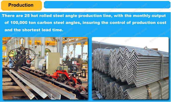 steel structure zinc coated equal angle