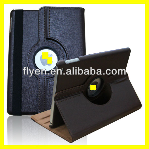 360 Rotating lichi pattern PU Wake/Sleep Leather Case Skin Cover for Apple Ipad Air 5 5th Gen