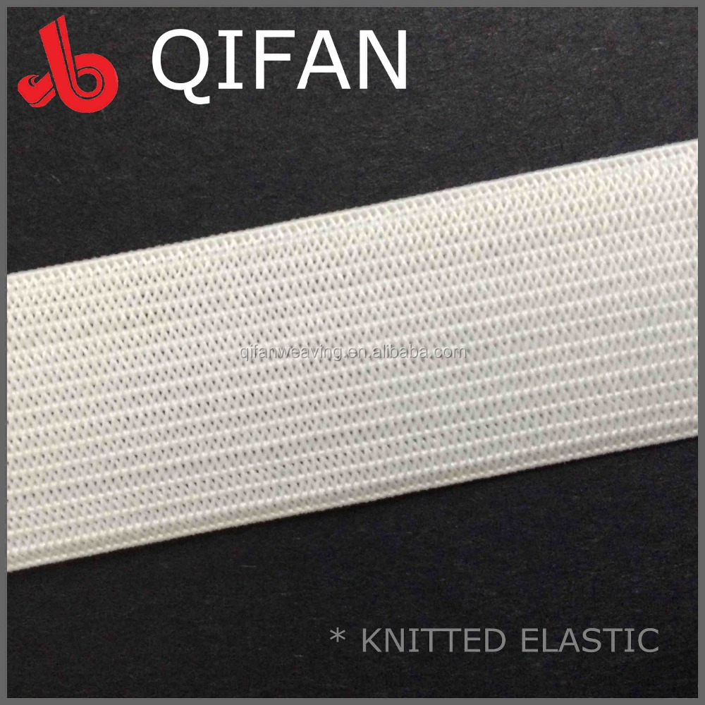 FACTORY WHOLESALE OEKO-TEX SOFT RIBBON 1 INCH WHITE KNIT ELASTIC BAND