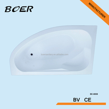 Corner bath tub,acrylic material,multifunction shower head and jet, small bathtub