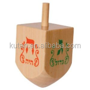 Promotional Wooden Dreidel Spinning Top