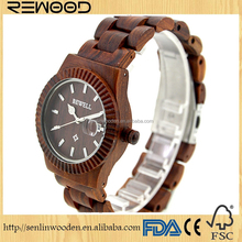 2017 fashion new wholesale wooden watch Men and women Leather Belt Wooden watch cheap watch