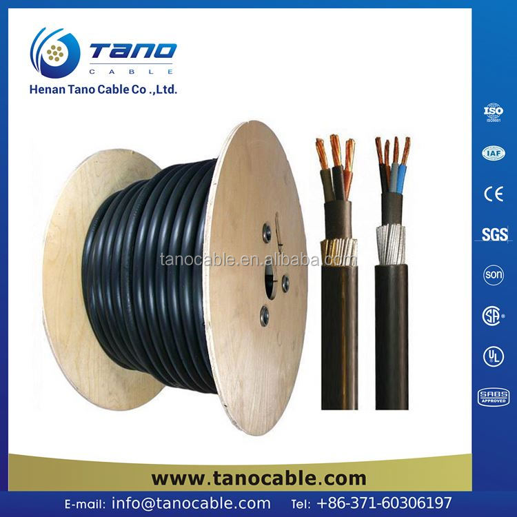 ISO 9001 4 core 10mm pvc lv power cable Chile Congo Colombia