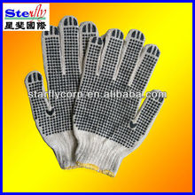 Free sample White Cheap PVC Dotted Working Cotton Glove For Labor